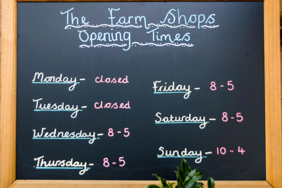 Opening hours for The Farm Shop at Ryders